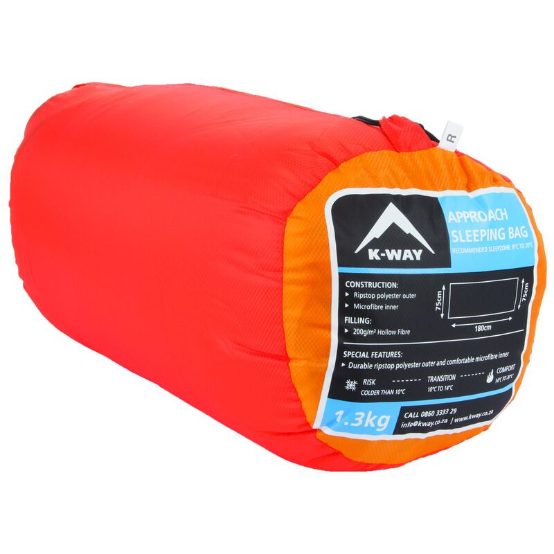 K-Way Approach Sleeping Bag -  orange-rust