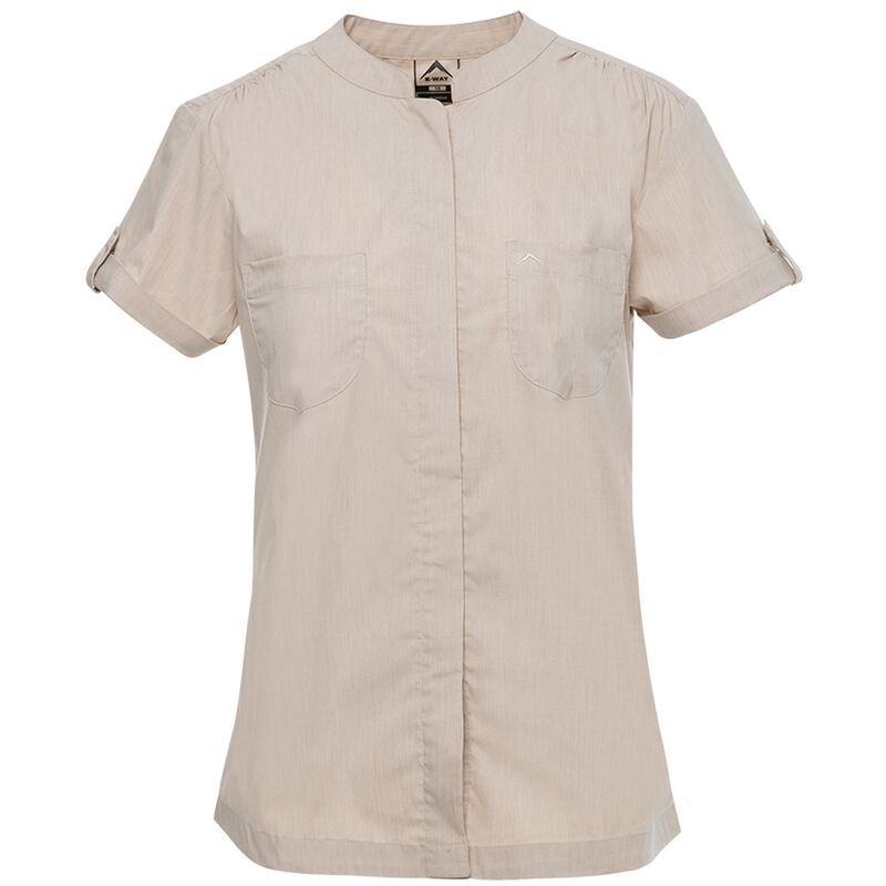 K-Way Women's Robyn Short Sleeve Shirt  -  stone