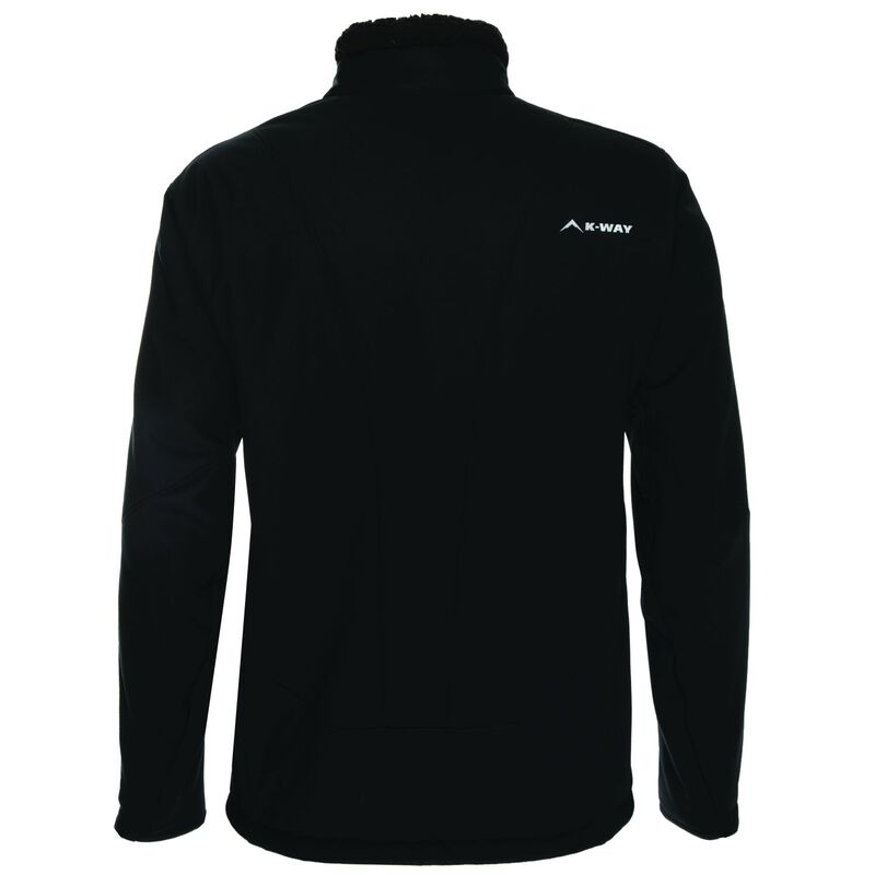 K-Way Men's Blane Softshell  -  black-black