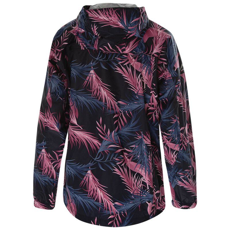 K-Way Women's Printed Cloudburst Jacket -  black-lightpink