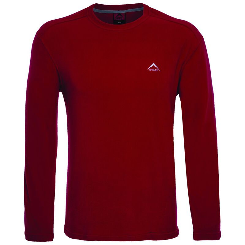 K-Way Men's Straus Crewneck Fleece  -  red
