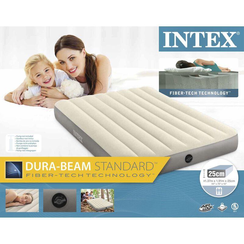Intex Durabeam Double Airbed -  white-grey