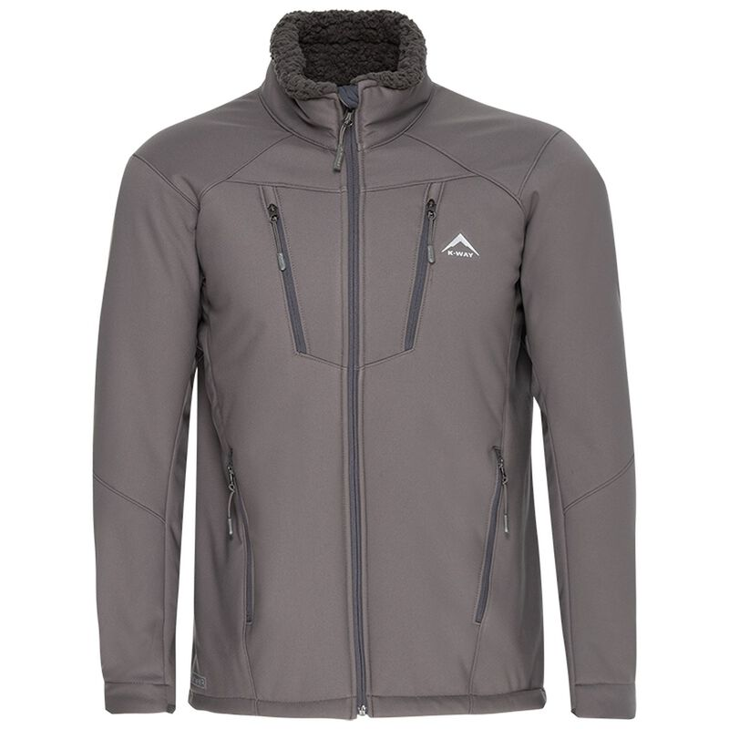 K-Way Men's Blane Softshell  -  grey-charcoal