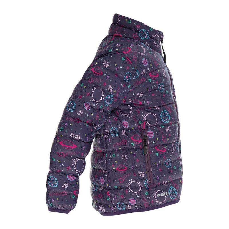 K-Way Kids Printed Cygnet Down Jacket -  purple-fuchsia