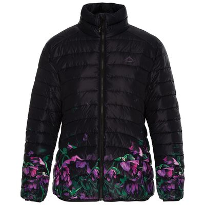 K-Way Women's Fern Printed Ombre Down Jacket