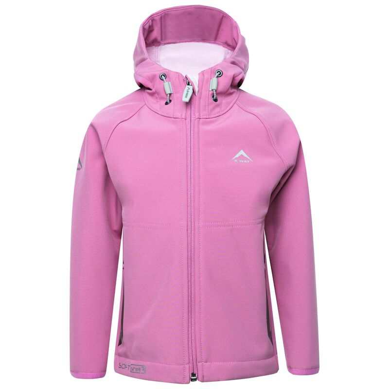 K-Way Youth Ocelot 3-ply Hoody Softshell -  dustypink-lightpink