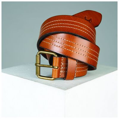 Oscar Leather Stitch Detail Belt