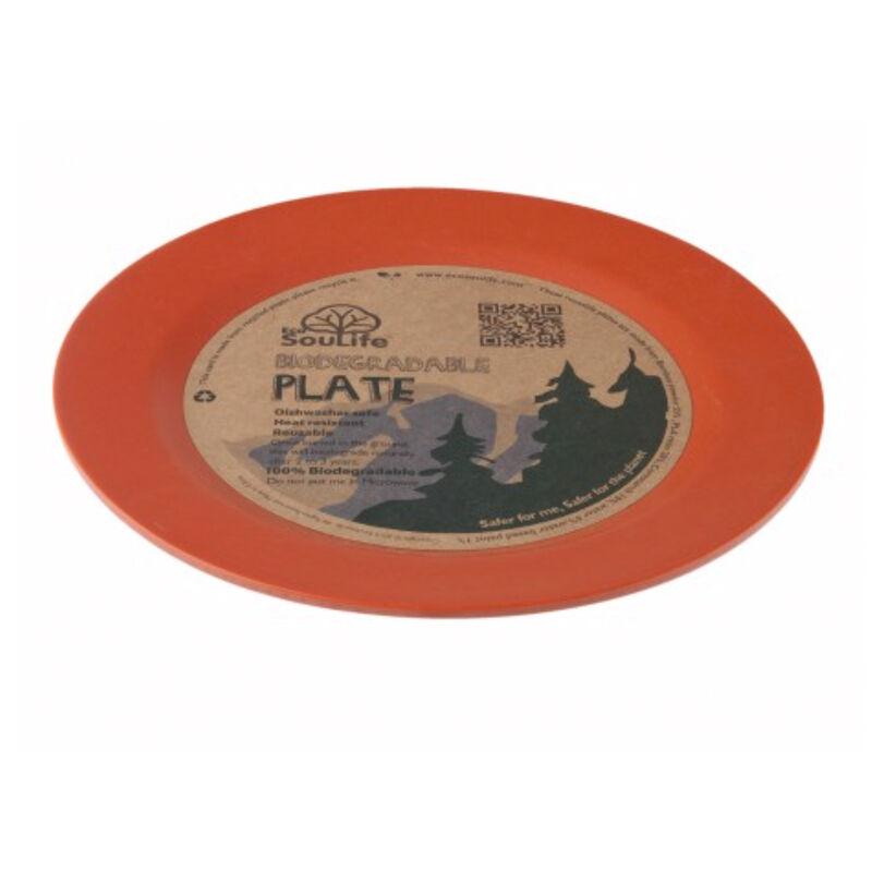 EcoSoulife Large Dinner Plate -  orange
