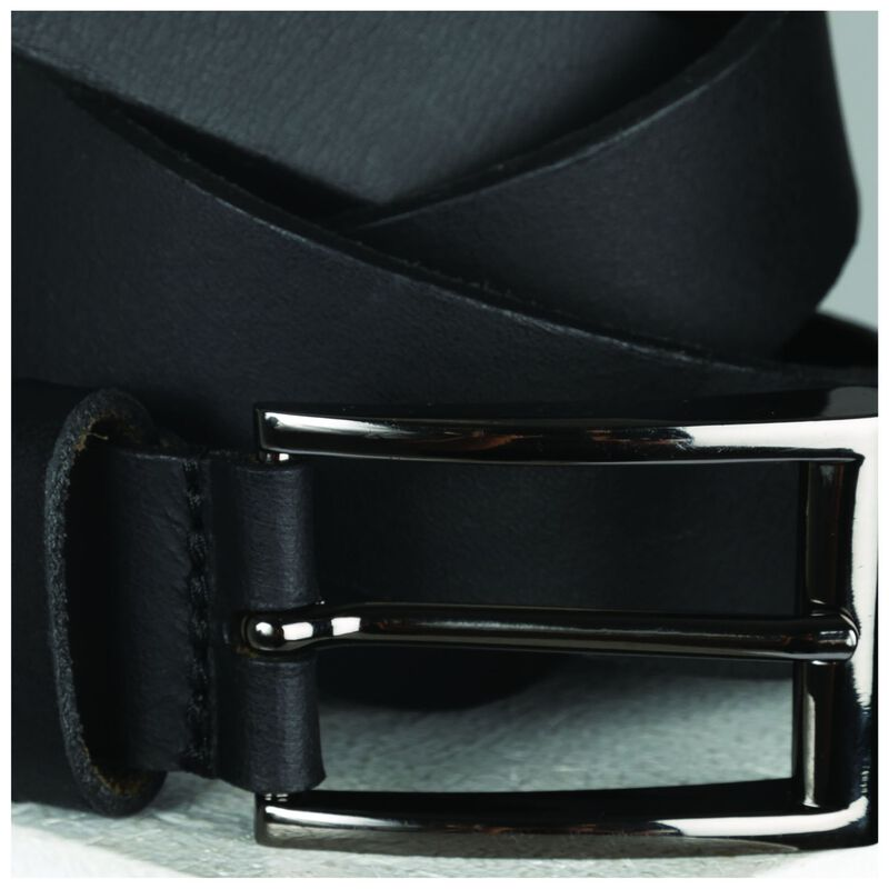 Arthur Jack Edison Leather Belt -  black-black