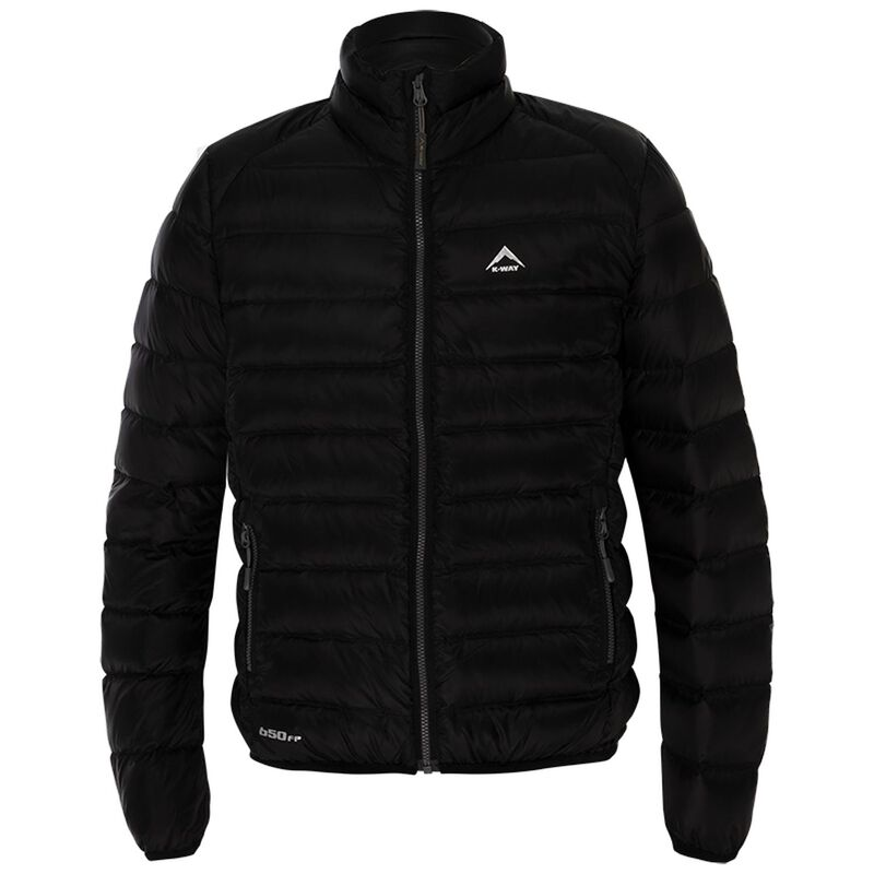 K-Way Youth Cygnet Down Jacket -  black-darkcharcoal