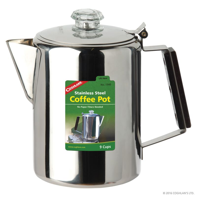 Coghlan's 9-Cup Stainless Steel Coffee Pot -  nocolour