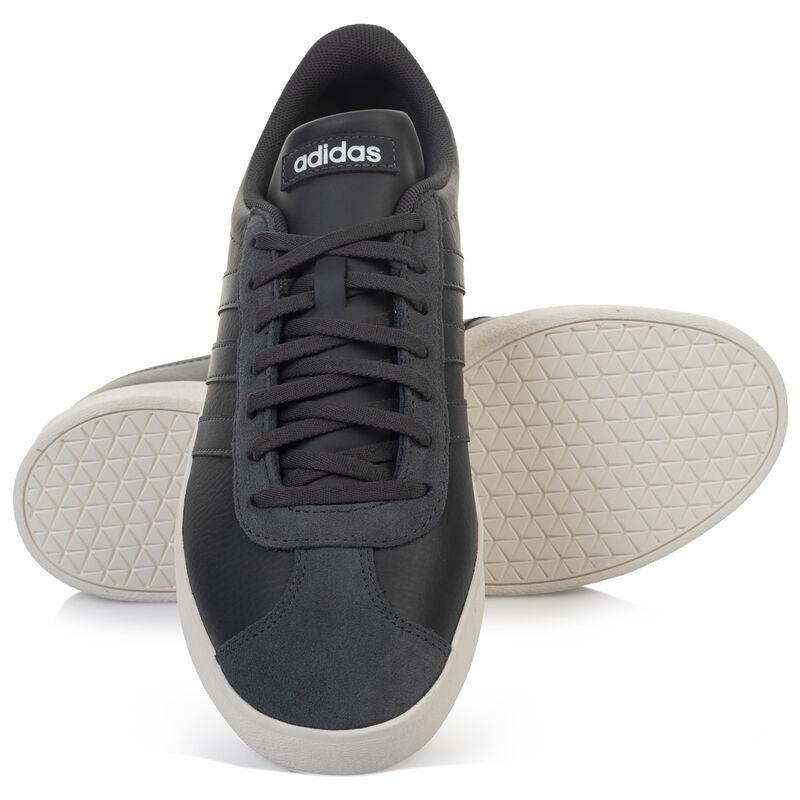 Adidas Men's VL Court 2.0 Shoe  -  grey-white