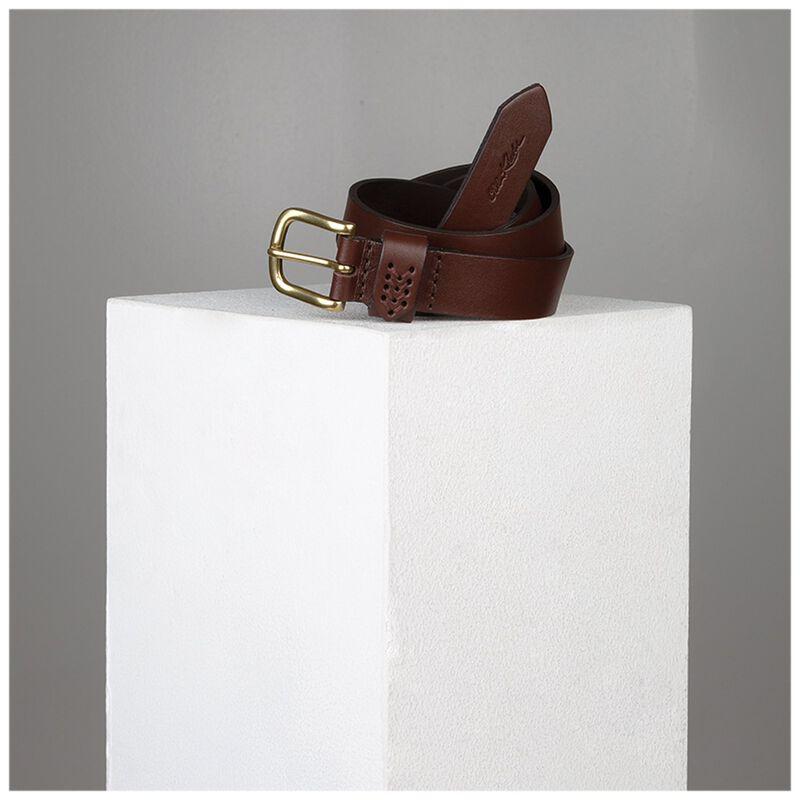 Evol Loop Stitch Detail Leather Belt -  brown