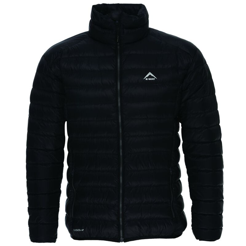 K-Way Men's Drake '18 Down Jacket  -  black-darkcharcoal