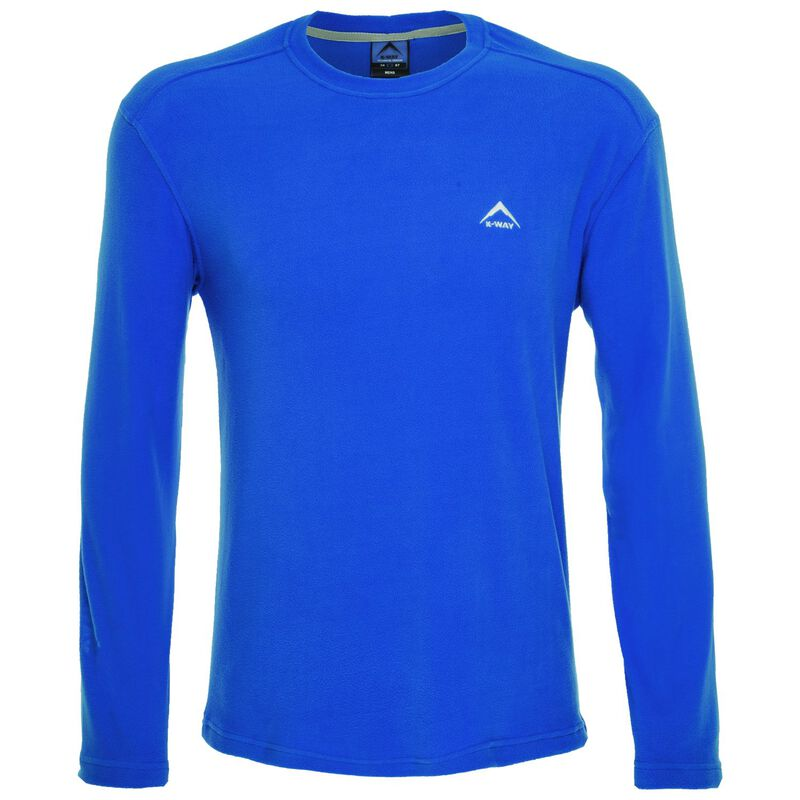 K-Way Men's Straus Crewneck Fleece  -  blue