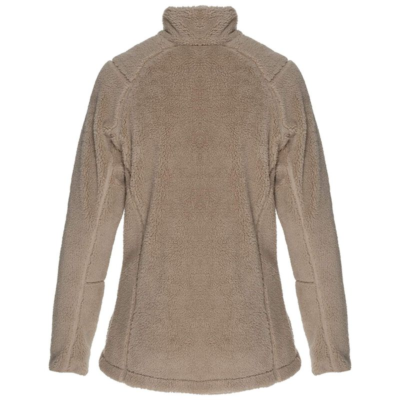 K-Way Women's Acacia Sherpa Fleece Jacket -  oatmeal-khaki