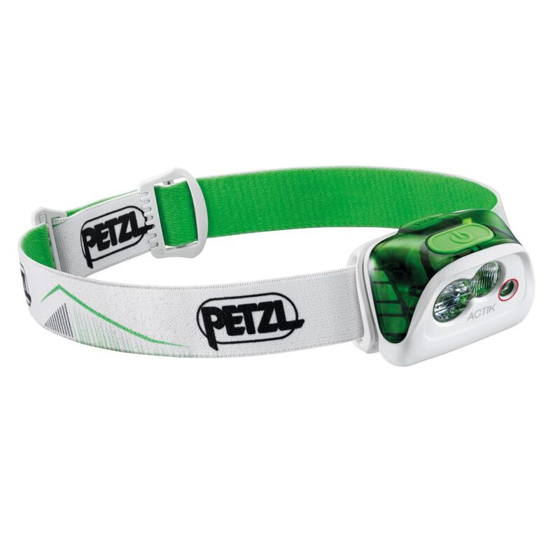 Petzl Actik 350 Lumen Headlamp -  white-green