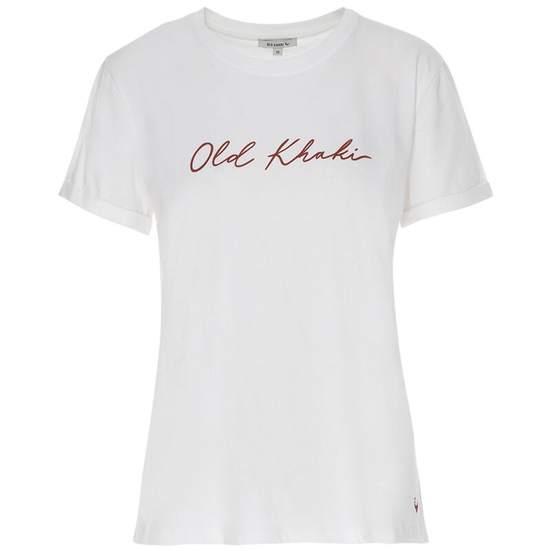 Old Khaki Women's Pascale Call-Out Tee -  white-red