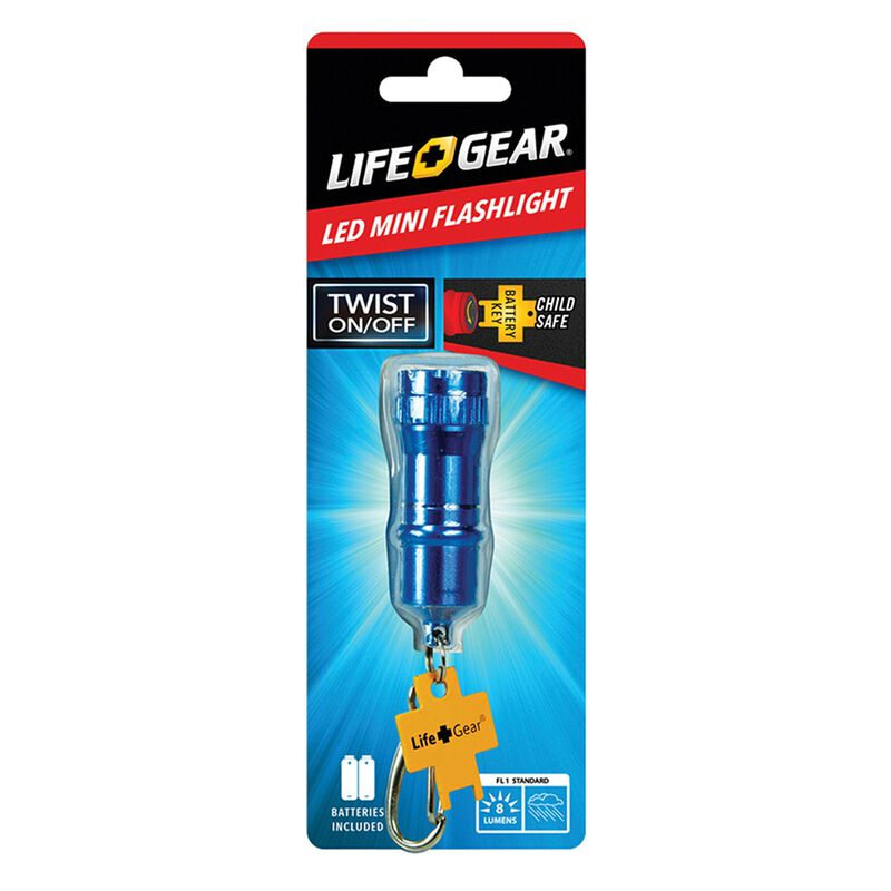 Life+Gear Mini Flashlight -  blue