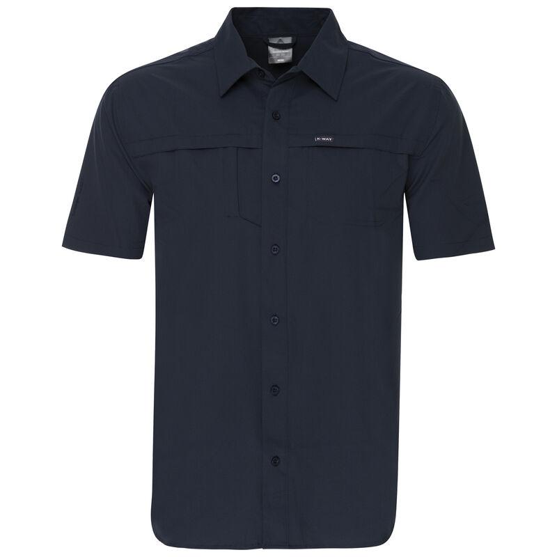 K-Way Men's Explorer Geoff Short Sleeve Shirt  -  navy