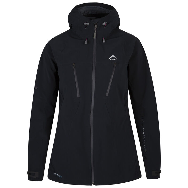 K-Way Women's Kili'19 Softshell Jacket -  black-berry