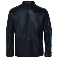 Royce Men's Leather Jacket  -  black