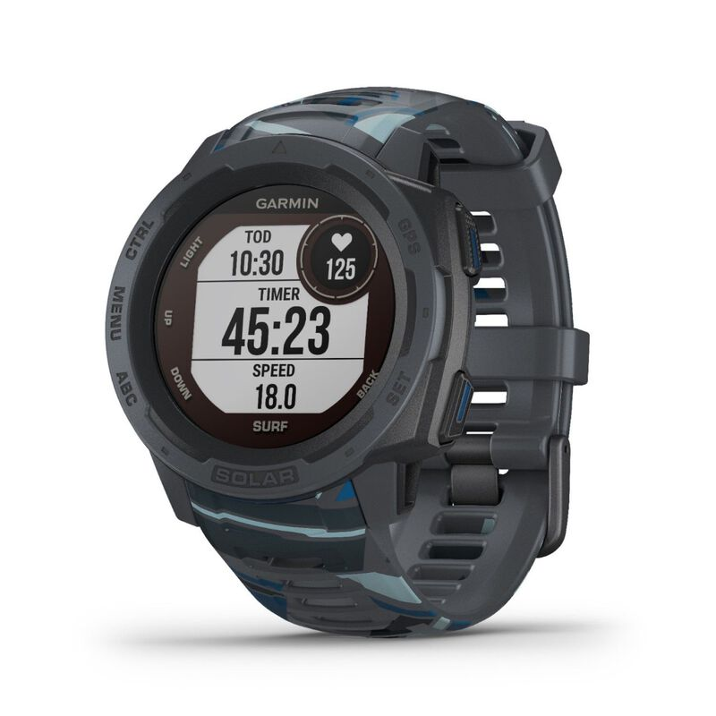 Garmin Instinct Solar Surf Fitness Watch -  grey-blue
