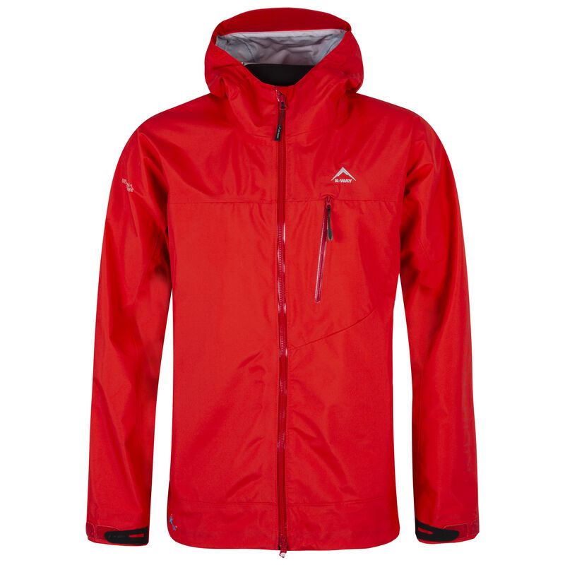 K-Way Expedition Series Men's Kilimanjaro '19 Shell Jacket  -  tomato