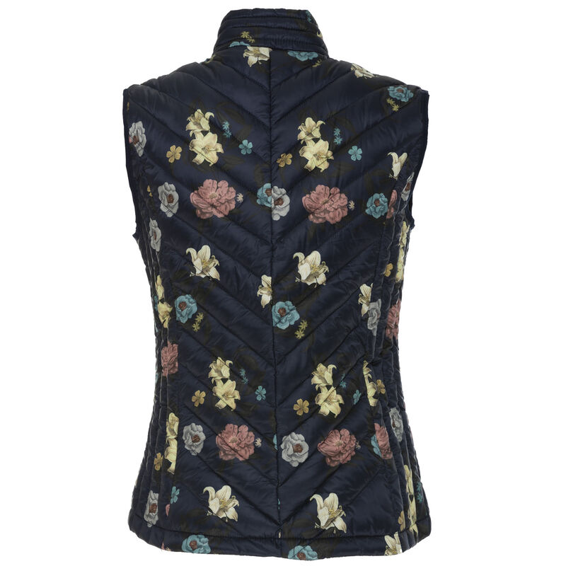 Elena Women's Sleeveless Puffer Jacket -  navy-assorted