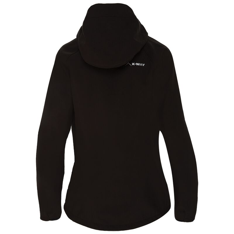 K-Way Women's Eliana Softshell Jacket -  black-black
