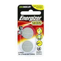 Energizer Lithium Coin 2032  Batteries (2 Pack) -  nocolour