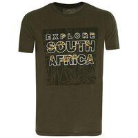 K-Way Men's Tourist SA S19.3 T-Shirt -  darkolive