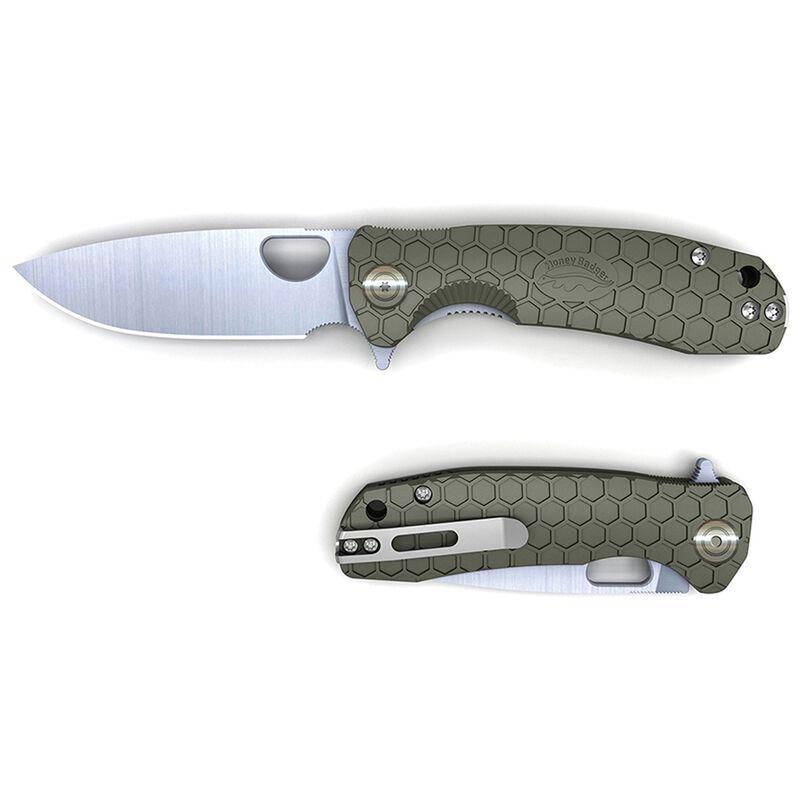 Honey Badger Flipper Large Knife -  green