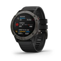 Garmin Fenix 6 X Sapphire Watch -  grey-black