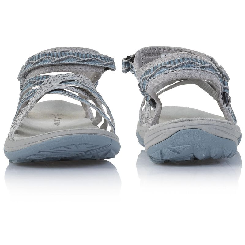 K-Way Women's Exhale Sandal -  cloudblue-white