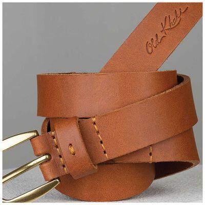 Lauryn Stitch Detail Leather Belt