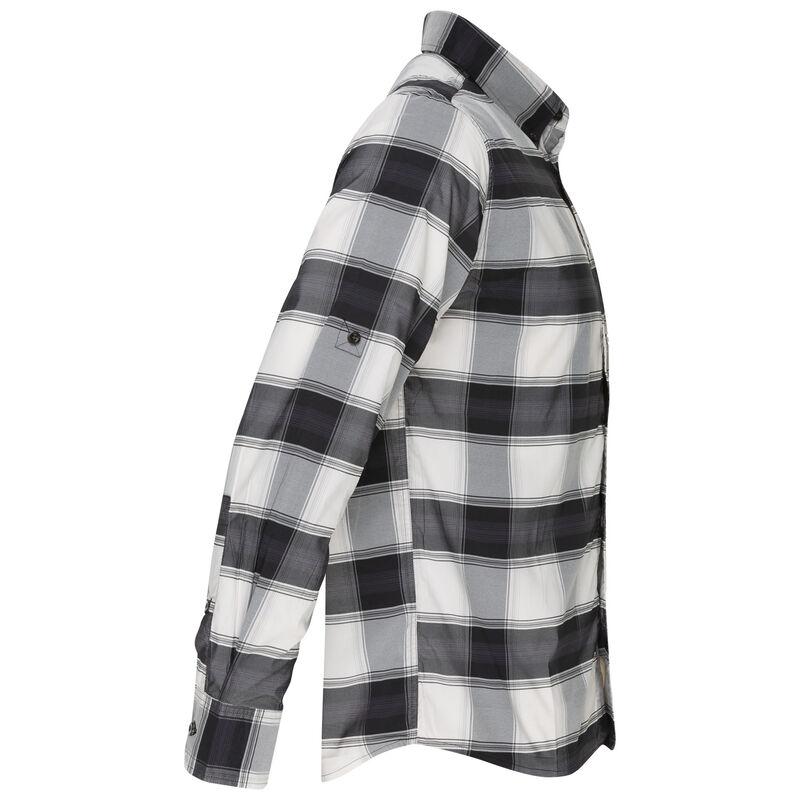 K-Way Men's Explorer Beaufort Long Sleeve Check Shirt -  black-white