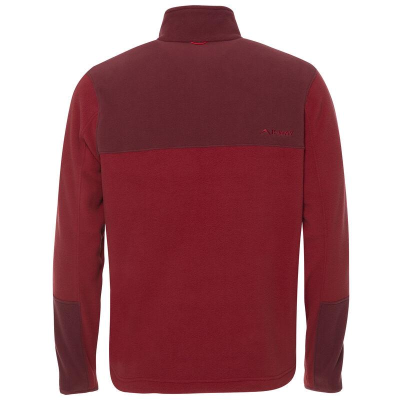 K-Way Men's Retro 1/4 Zip Fleece  -  oxblood-red