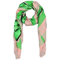 Old Khaki Kiara Monster Leaf Square Scarf -  green-pink