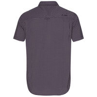 K-Way Men's Explorer Vaillant Short Sleeve Check Shirt  -  oxblood-navy