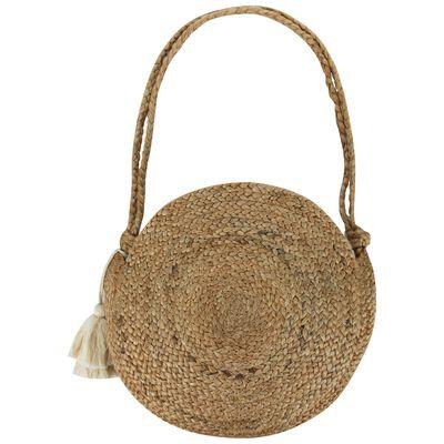 Rare Earth Ladies Dorothy Tassel Round Jute Bag