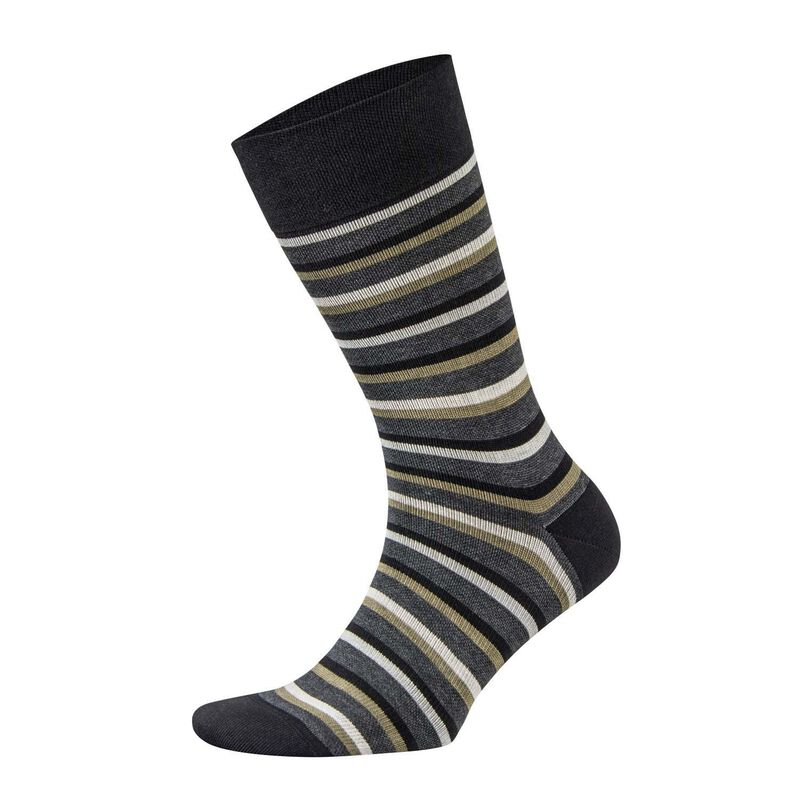 Falke Sensitive Stripe Sock -  black-brown