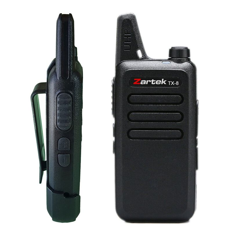 Zartek TX-8 Two-Way Radio Superpack  -  black-black