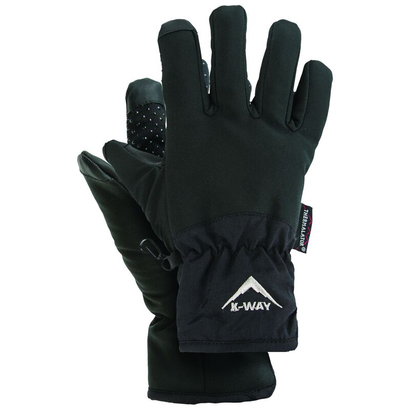 K-Way Touch Softshell Thinsulate Glove -  black