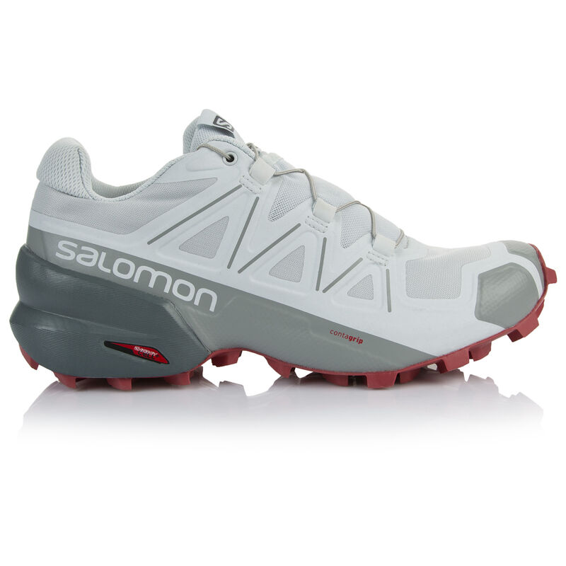 Salomon Women's Speedcross 5 Shoe -  silvergrey-watermelon