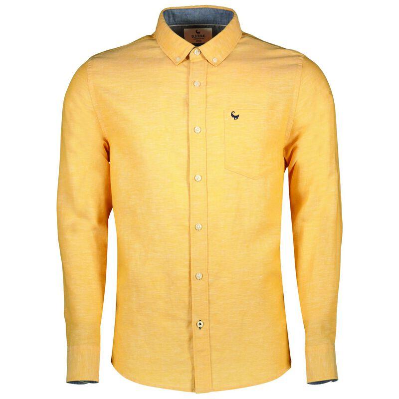 Camden Men's Slim Fit Shirt -  yellow