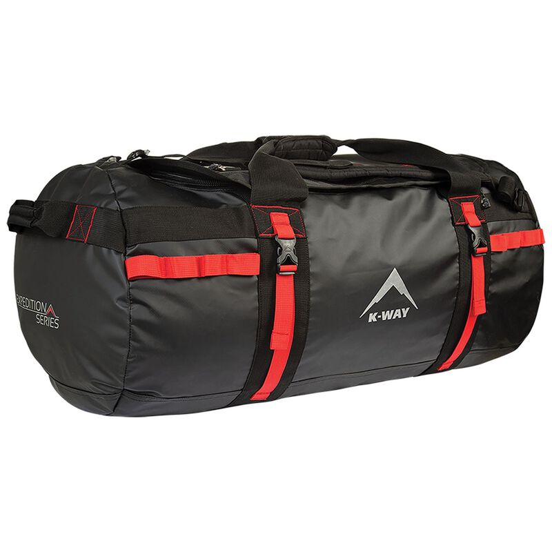 K-Way Sherpa Expedition PVC Duffel Bag -  black-red