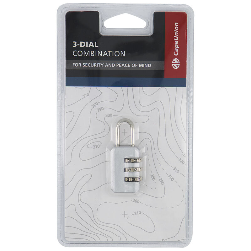 Cape Union 3-Dial Combination Lock -  silver