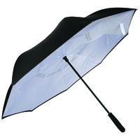 Cape Union Reversible Auto Open Umbrella -  black-white