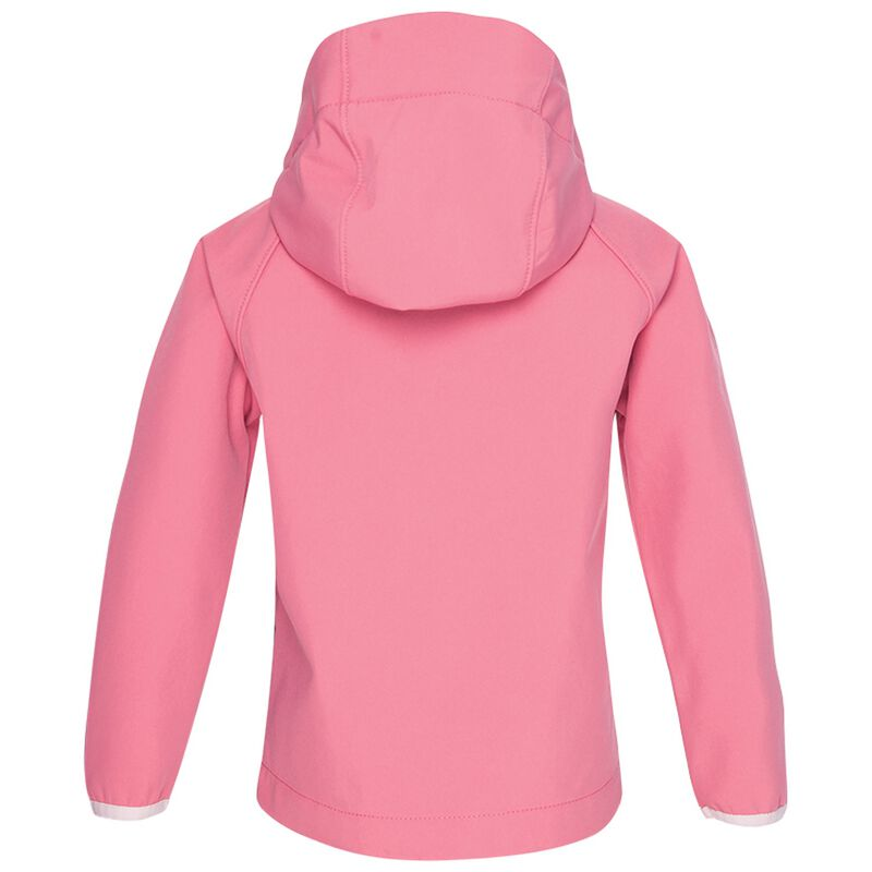 K-Way Kids Ocelot 3ply Hoody Softshell  -  watermelon-lightpink